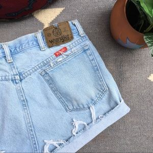 Vintage High Rise Wrangler Cutoff Shorts